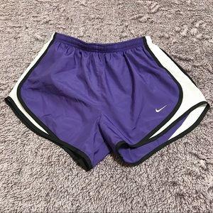 Nike DriFit Purple Running Drawstring Brief Shorts